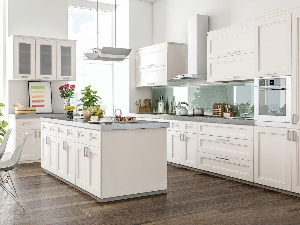 10X10 White Shaker Kitchen Cabinet - Savona Kitchen & Bath