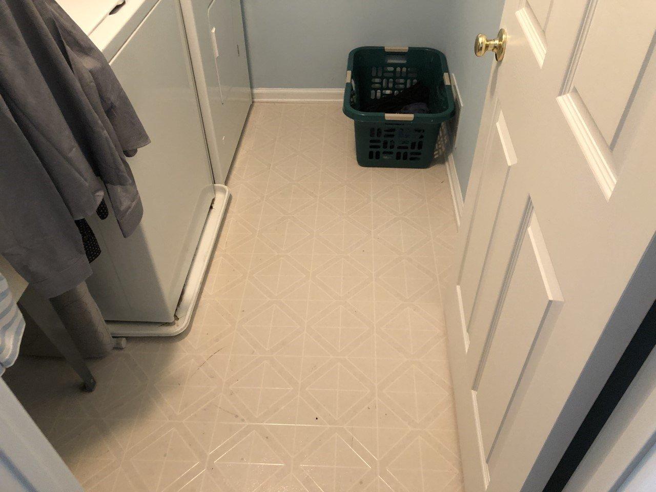 Basking Ridge Laundry Room Tile Renovation