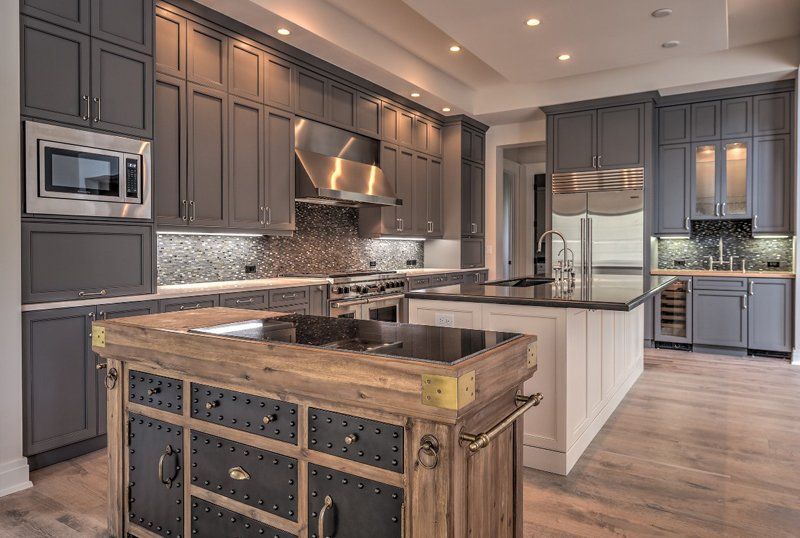 Eclectic Style Kitchen Cabinets