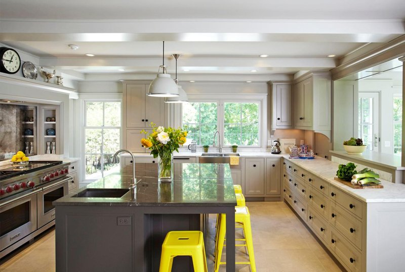 Long Kitchen Cabinets