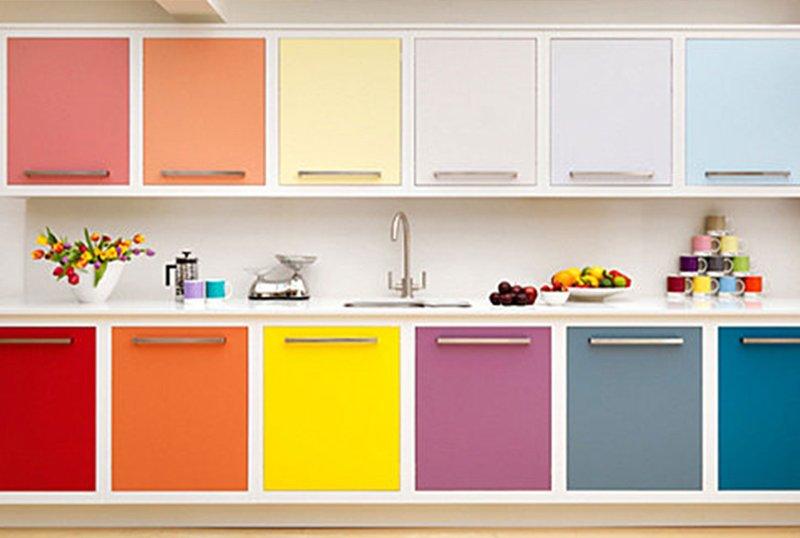 Multicolored Kitchen Cabinets