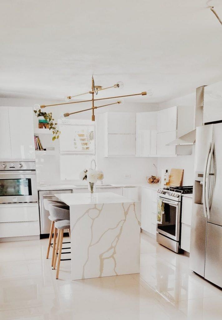Modern White High Gloss Kitchen Cabinets