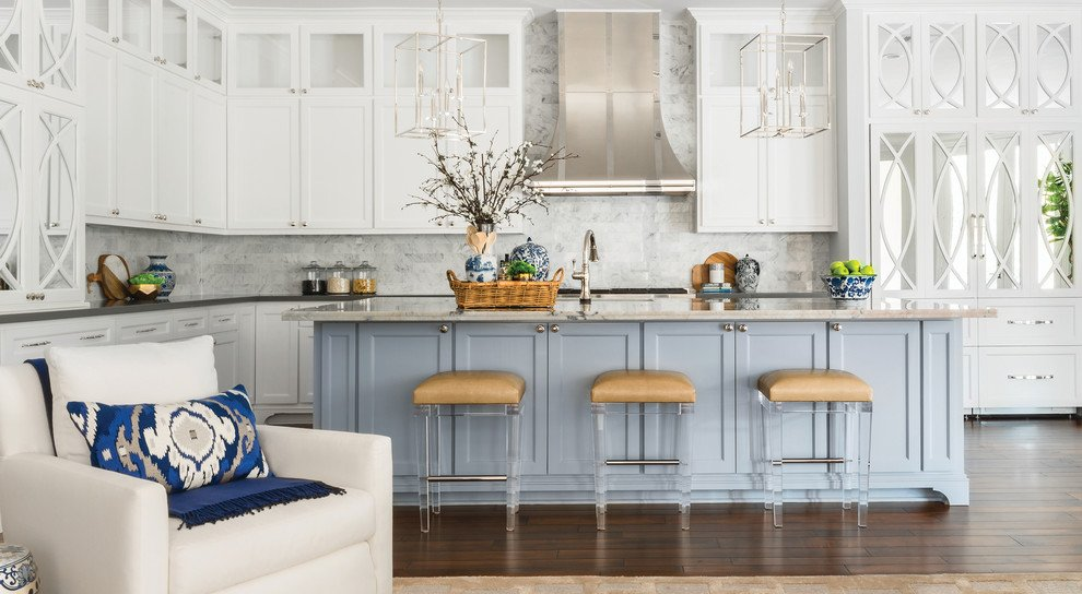 Two-Tone Painted Kitchen Cabinets