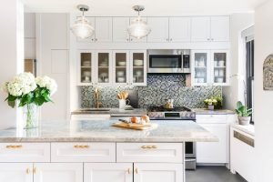 white kitchen cabinets with a twist