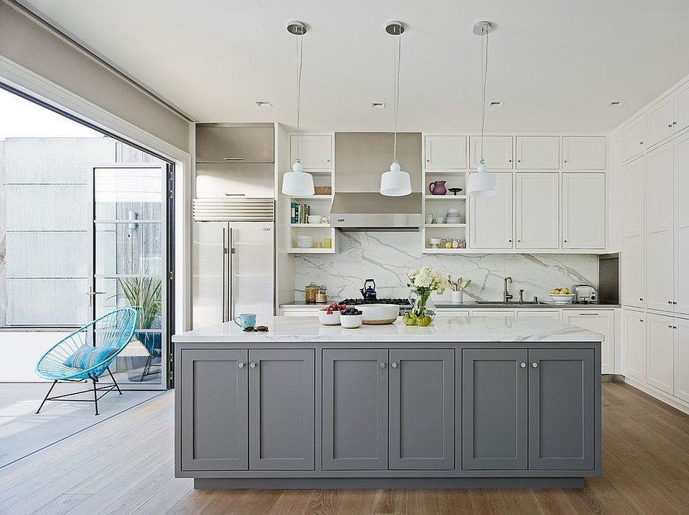 Gray And White Kitchen Cabinets For A Classic Feel