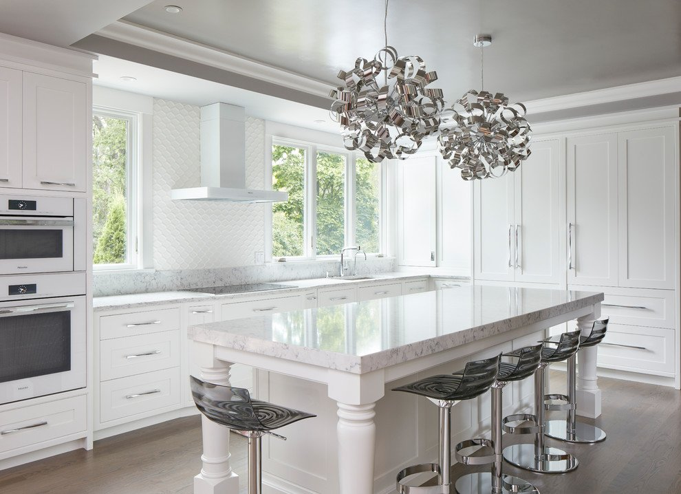 Timeless White Painted Kitchen Cabinets
