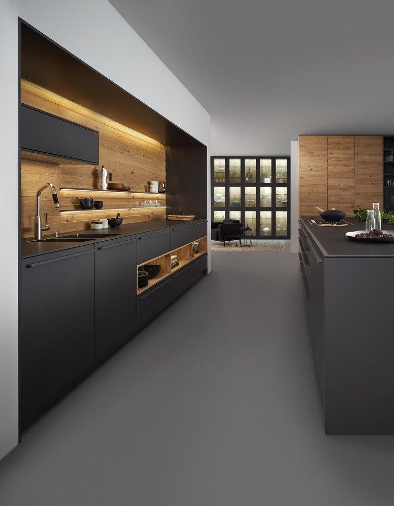 Modern Dark Grey Kitchen Cabinets