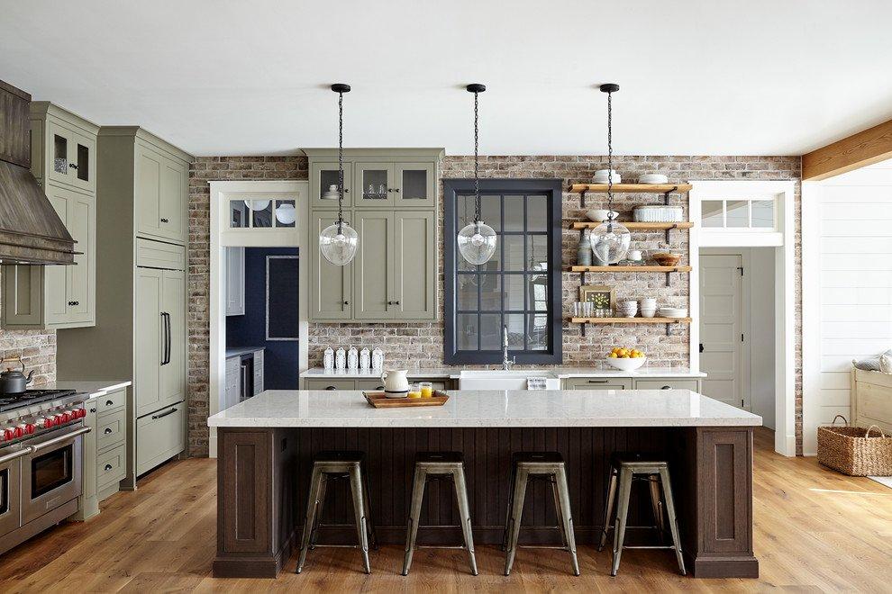 Grey Green Kitchen Cabinets