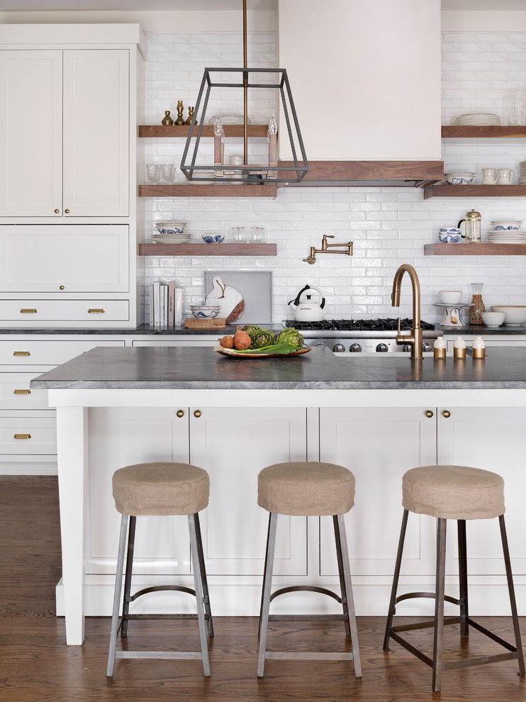 White Kitchen Cabinets With Bronze Hardware