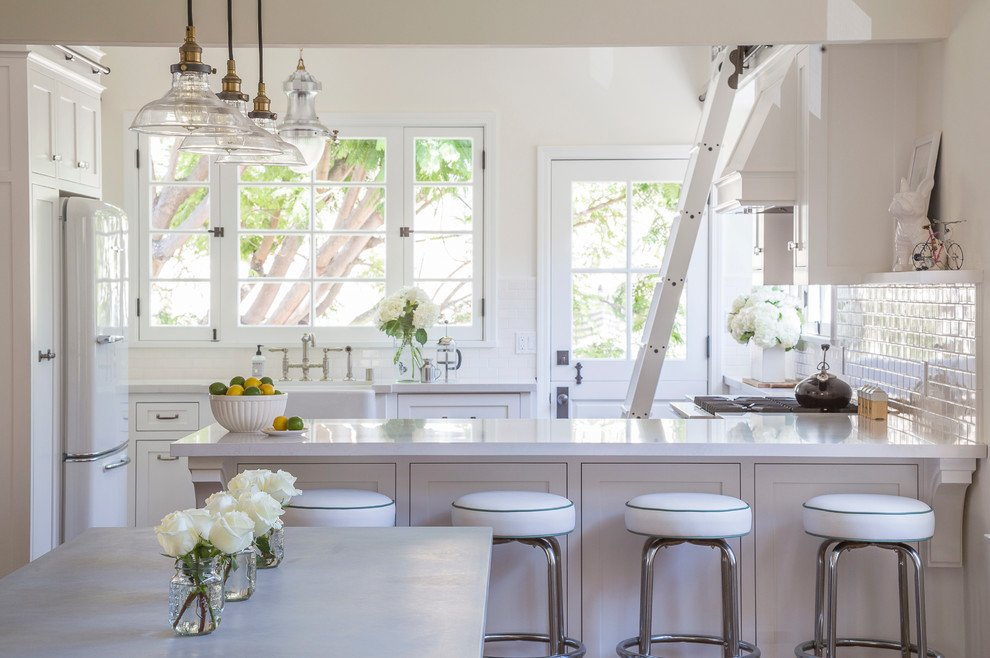 Farmhouse Kitchen Cabinets With Vintage Hardware
