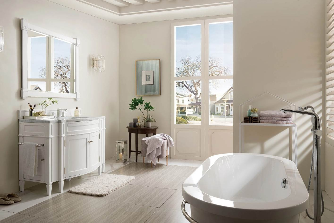 "White bathroom vanity 46"""
