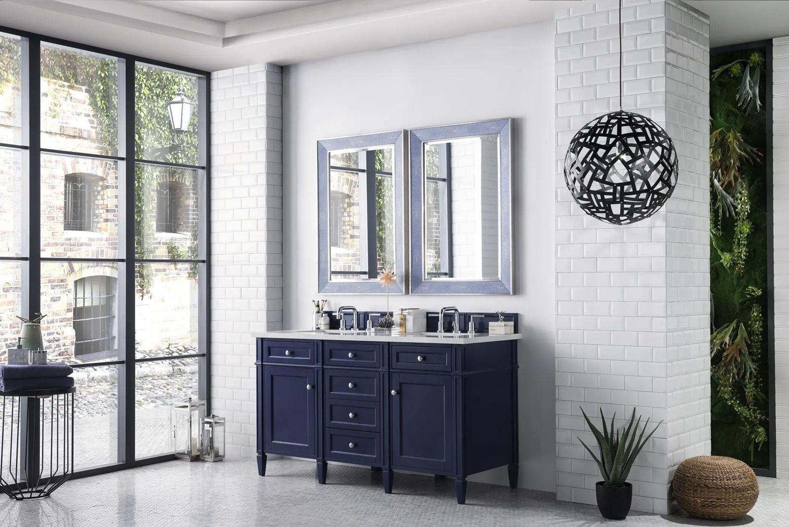 """Blue bathroom vanity 60"""""""