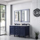 Brittany 60 Victory Blue Double Bathroom Vanity 05